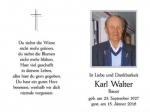 Karl Walter 25. September 1927 - 15. Jänner 2016
